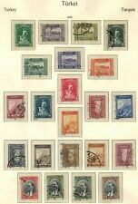 TURKEY 1930 STAMP SELECTION X 22 USED UNCHECKED AND AS RECEIVED