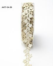 3/4 Inch Adhesive Floral Design gold price for 1 yard