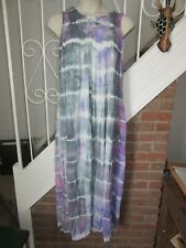 BNWT UK 14 Topshop Maxi Dress Tie Dye Crochet Loose £40 Purple Pastel Summer