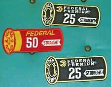 Lot of 3 Federal Premium 25 & 50 Straight Embroidered Patches