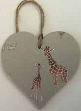 "Sophie Allport ""Giraffe"" handcrafted wooden Heart dresser Hanger safari"