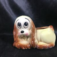 Vintage Ceramic Puppy Dog Planter Cocker Spaniel