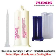Plexus MA300 (30500) High Strength 5-Min MMA Adhesive-50m+Caulk Gun Adapter