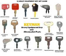 16 Keys Heavy Equipment / Construction Ignition Key Set Case Cat JD Komatsu JCB