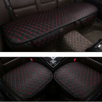 Universal Car PU Leather Front Rear Back Seat Cover Mat Breathable Protector New