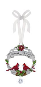 Ganz Family the true gift of Christmas Ornament Zinc   Free Ship USA