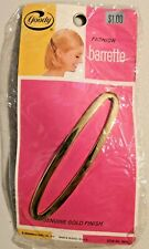 """Vintage goody hair accessories 4.5"""" Gold Barrettes Item No. 5634 NOS --  601-602"""
