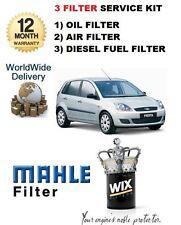 Per FORD FIESTA 1.6 TDCi 1/2005 -10 / 2008 Servizio Kit Aria Olio Filtro Carburante (3) KIT