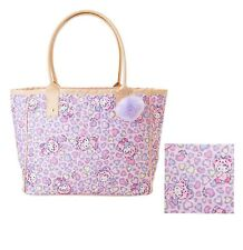 Sanrio Hello Kitty Women Shoulder Tote Bag Shopper Bag Heart Leopard Pink Bear