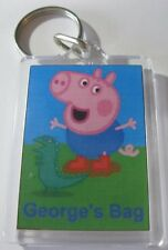 Personalised Pepper Pig Keyring  Ideal For: Book Bags Tags, Name Tags