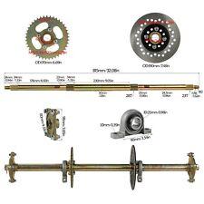 "1.2""x 32"" Go Kart ATV Live Rear Axle Kit + Disc Rotor Wheel Hub 428 Sprocket DIY"