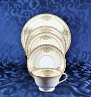 Noritake PENELOPE 4781 Place Setting 5 Piece - Cream & Gold - Vintage Porcelain