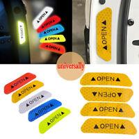 4pc Car Door Open Sticker Reflective Tape Safety Warning Auto Decal Door Sticker