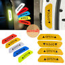 4pc Car Door Open Sticker Reflective Tape Safety Warning Auto Decal Door Sticker