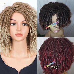 """14"""" Synthetic Wigs For Black Women Wigs Dreadlock Wig Crochet Braids Wig Brown"""