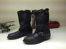 VINTAGE CAROLINA BLACK LEATHER MADE IN USA ENGINEER MOTORCYCLE BOOTS 9-9.5 M