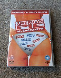 AMERICAN PIE 1-8 Complete Collection Region 2 UK DVD BOX SET