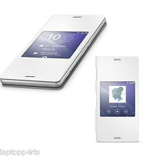 GENUINE SONY XPERIA Z3 SCR24 SMART WINDOW FUNCTION STYLE UP CASE COVER - WHITE