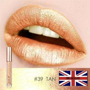 Focallure 39 Shade Tan Iridescent Metallic Lipstick LipGloss Liquid Glitter- UK