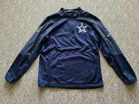 EUC Nike Men's Dri-Fit Onfield Apparel Dallas Cowboys Pullover Jacket Sz Medium