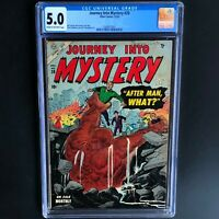 JOURNEY INTO MYSTERY #20 (Atlas 1954) 💥 CGC 5.0 💥 26 in CENSUS! Everett Art
