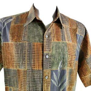 Tori Richard Wood Sticks Bamboo Large Hawaiian Aloha Shirt