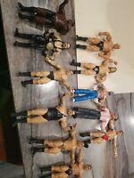 Vintage Lot (11) LJN WWF WWE Wrestling Titan Sports Bendable Action Figures used