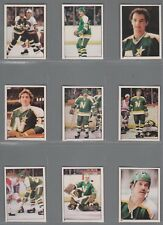 1981-82 O-Pee-Chee Hockey Sticker North Stars Complete Team Set (16) OPC