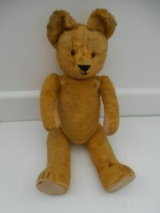 """RARE OLD VINTAGE GOTTFRIED KRAEBER GOKRA GERMAN JOINTED TEDDY BEAR 16"""""""