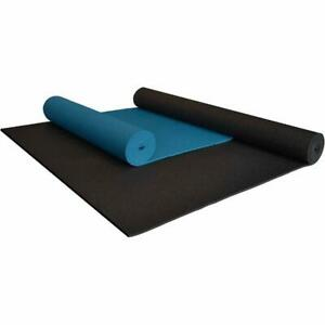 Extra Long and Wide Yoga Mat 1/4 in. Thick for Fitness Exercise Pilates Non-Slip
