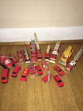 Vintage Fire / Rescue Trucks Cars Diecast Metal And Plastic Lot Of 19