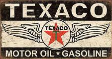 Texaco Winged Logo Distressed Retro Vintage Tin Sign Tin Sign - 16x8.5