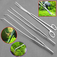 3X Stainless Steel Aquarium Live Plant Aquascaping Tweezer Scissor Trimming Tool