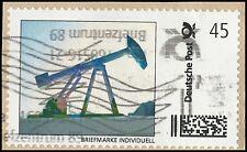 Pumpe zur Erdölförderung - Briefmarke Individuell 45 Ct. - gestempelt auf Papier