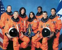 New 8x10 NASA Photo: Final Crew of Space Shuttle Columbia Ill-Fated Last Mission