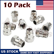 10 Pack Oxygen Sensor Extender Adapter Extension Spacer HHO O2 Bung Test Pipe 02