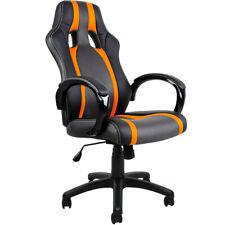 Chaise de bureau Sport Fauteuil- Siege Baquet noire grise Orange Voiture Sport