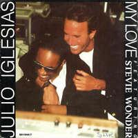 """Julio Iglesias Featuring Stevie Wonder 7"""" Single Lar Vinyl Schallplatte 40560"""