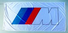 BMW FLAG M SERIES WHITE - SIZE 150x75cm (5x2.5 ft) - BRAND NEW