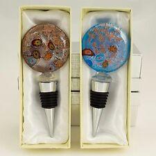 2St Flaschenverschluß Muranoglas Stil Flaschenstöpsel Glasverschluss bottle cap