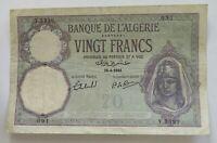 ALGERIA 20 FRANCS 1941   #alb13 541