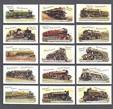CIGARETTE CARDS.Taddy Tobacco.(Re-Reg).LOCOMOTIVES.Myrtle Grove.(Set of 25).1980