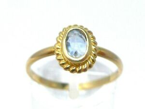 Ring Goldring 750 GOLD 18 Karat oro Gelbgold 18K Spinell Edelstein antik art