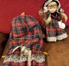 "little treasure collection porcelain 7"" doll Scotland w Beautiful cloth bag 1999"