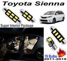 19 Bulbs Xenon For Toyota Sienna 2011-2015 White LED Interior Light Package Kit