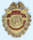Absolutely Stunning Ca.1920's Mt. Vernon, NY Fire Commissioner Badge in 14K Gold