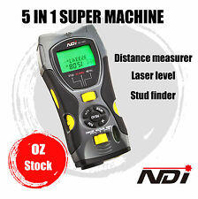 Stud Finder + Distance Meter + Laser Level 5 IN 1 Multifunction Gauge 109A