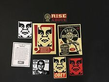 Shepard Fairey Obey Giant Calcomanía Set 2 Paint It Negro elevarse por encima de