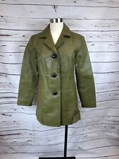 Chicos Green Leather Jacket