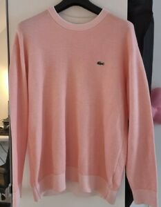 Lacoste Sweatshirt Pink Salmon Size 5 US Large Great Condition Cotton